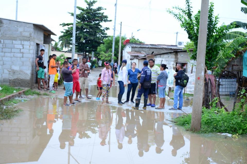 Monitoreo en Ciénaga por posibles inundaciones