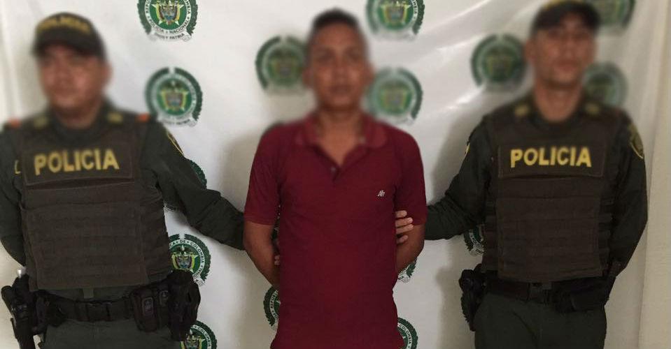 El hombre de 23 años que comercializaba sustancias alucinógenas en EL Banco, Magdalena.