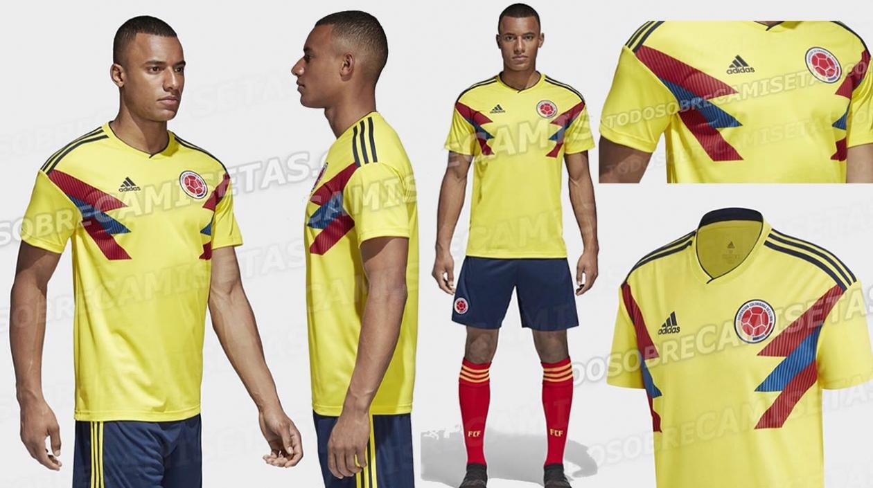 a48b30c99cbca Este sería el uniforme que utilizaría la Selección Colombia