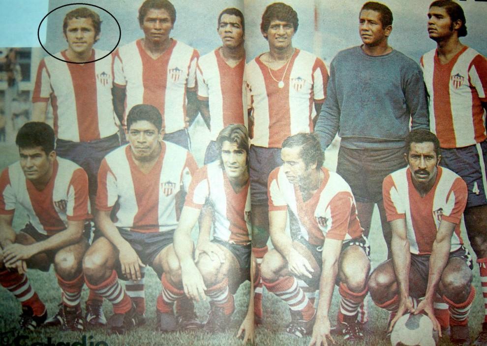 Imagen cuando Eduardo Carrillo jugaba en el Junior.