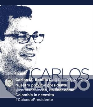 Funcionarios que apoyarían a Caicedo en política