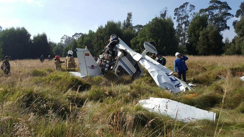 Mueren instructor y estudiante de aviación en accidente aéreo en Zipaquirá, Cundinamarca