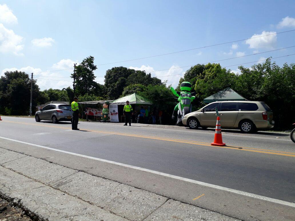 Policía del Magdalena realizó operativos en vías y sitios turísticos durante el fin de semana