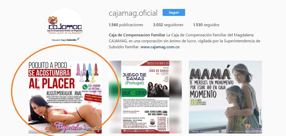 El post de Cajamag permaneció durante unos 15 minutos en la red social.