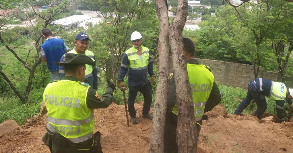 La Policía Ambiental también apoyo la jornada.