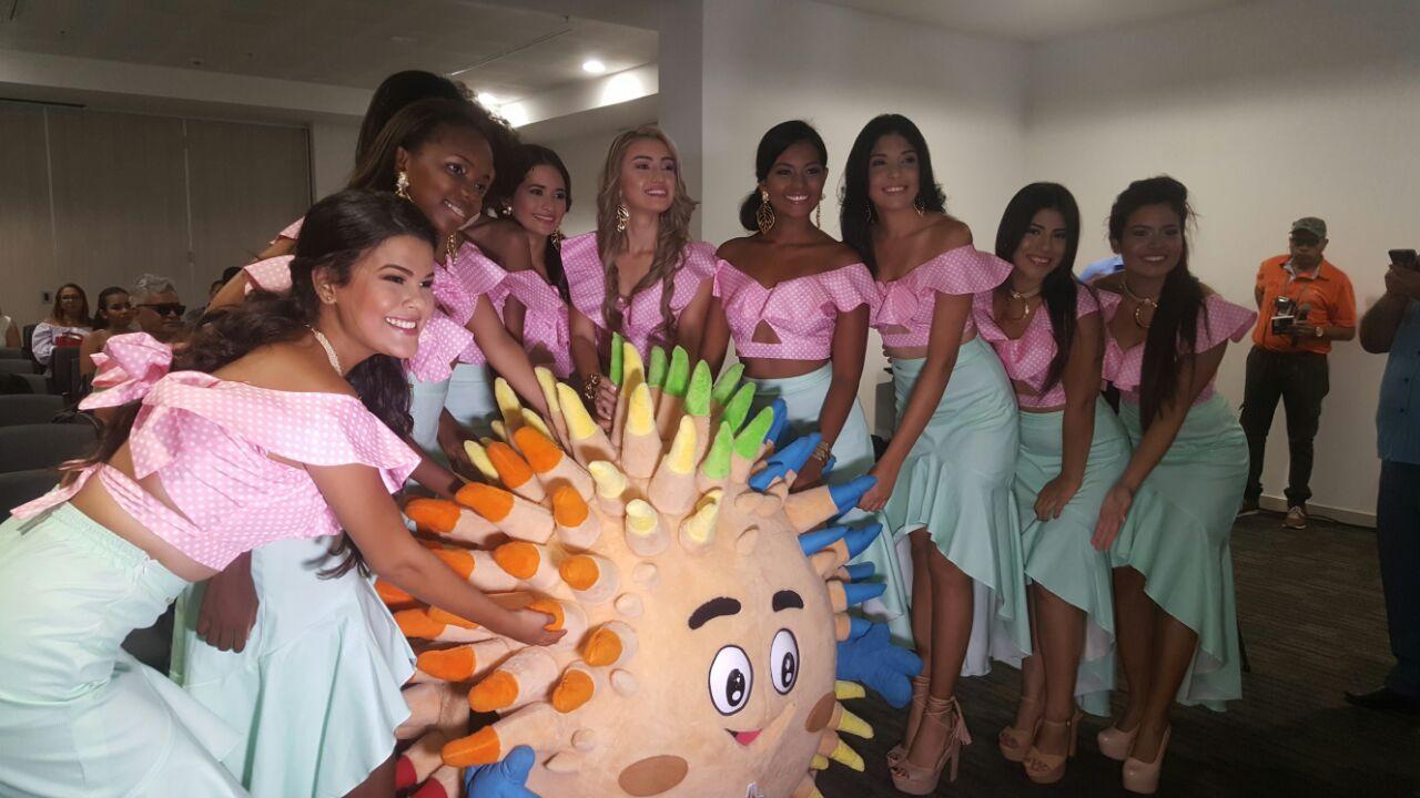 El equipo y la mascota de  los Juegos Bolivarianos tuvieron presentes en el evento.