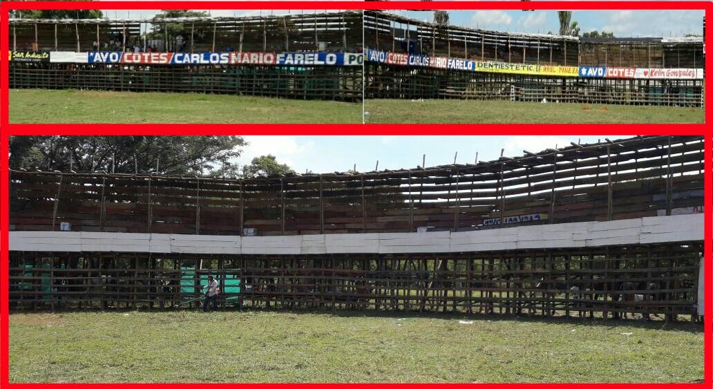 Las imágenes muestran el espacio que tenía reservado el Negro López, y cómo fue utilizado luego para los candidatos de la oposición.