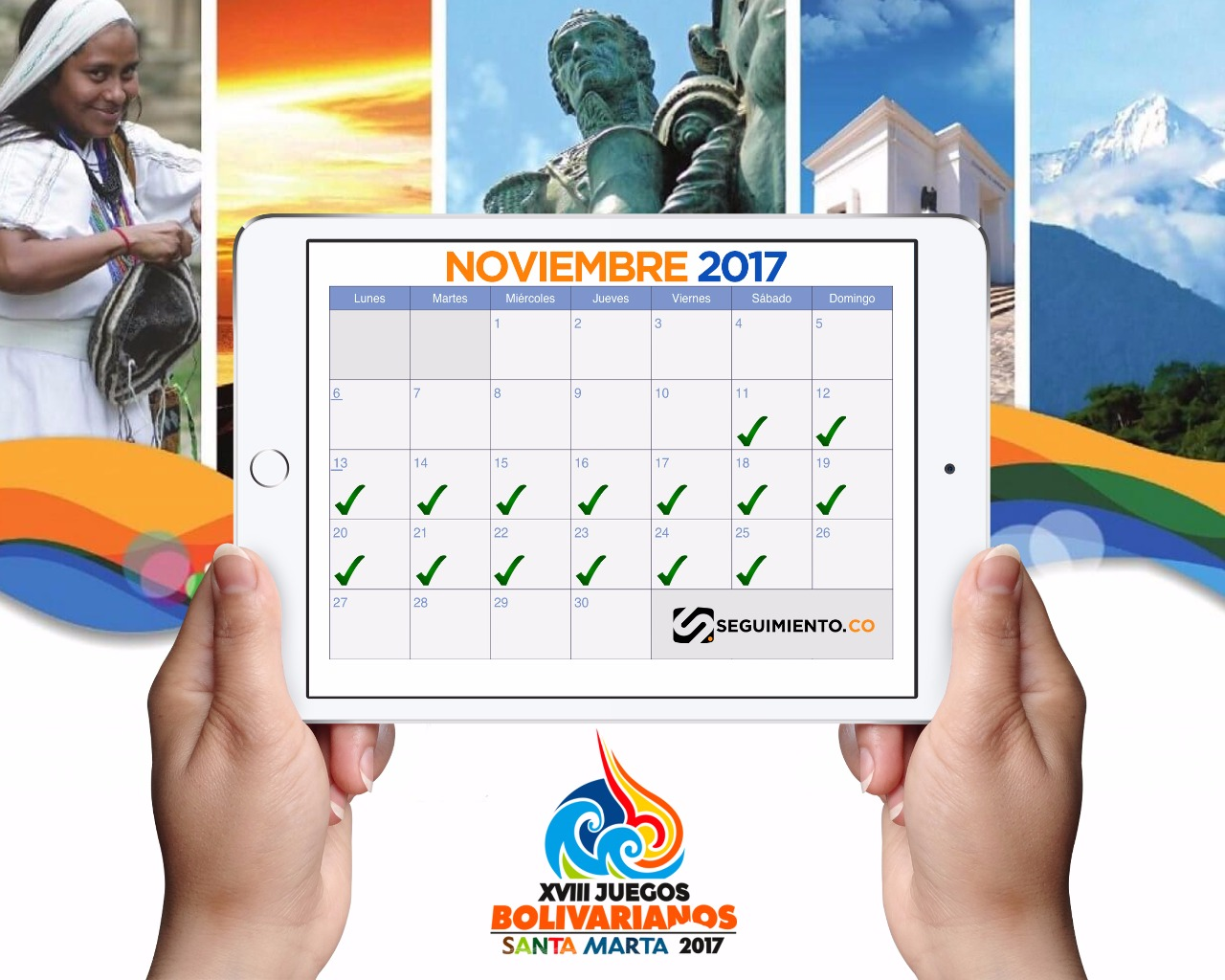 El objetivo es que, al tocar sobre la fecha se despliegue una ventana donde se muestre los eventos deportivos correspondiente en el día. Convirtiéndose en una alternativa interactiva para que los usuarios se programen con los juegos.