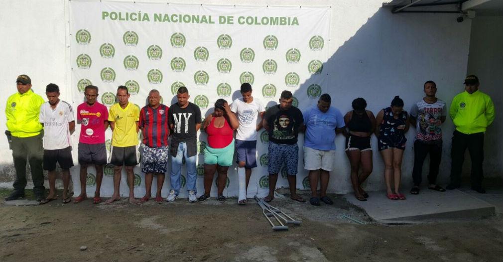 Policía desarticula banda 'Los enanos' dedicada al trafico de estupefciantes en Santa Marta
