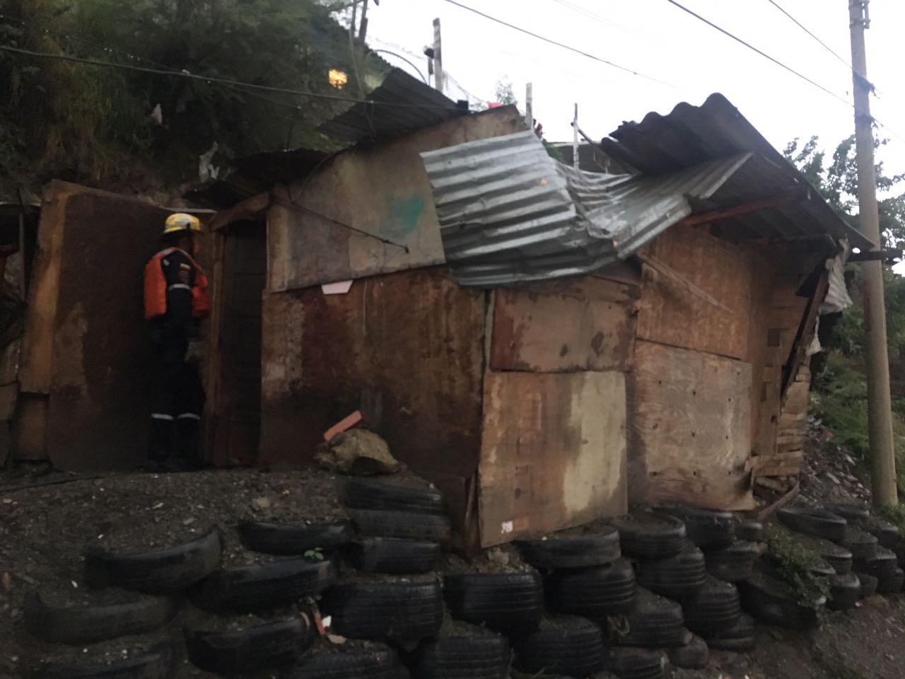 Varias viviendas resultaron afectadas en San Fernando.