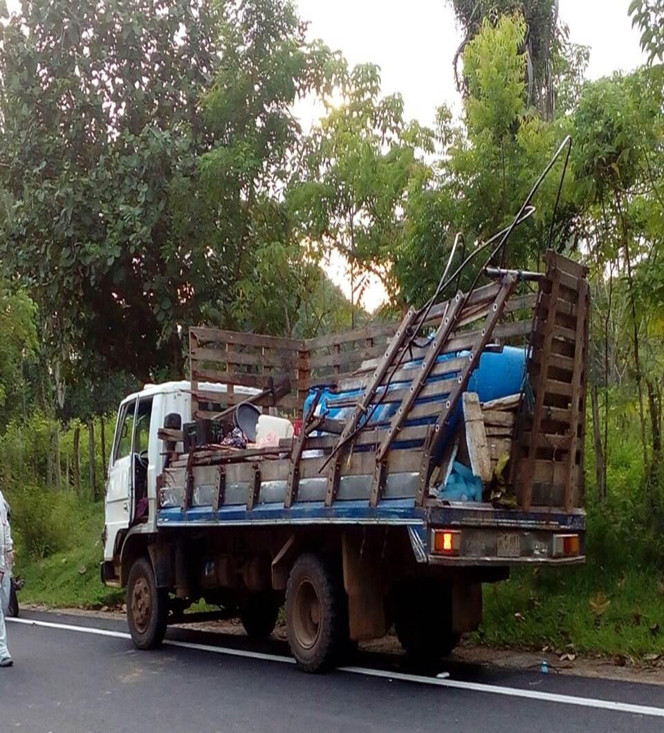 Estado en quedó el camión.