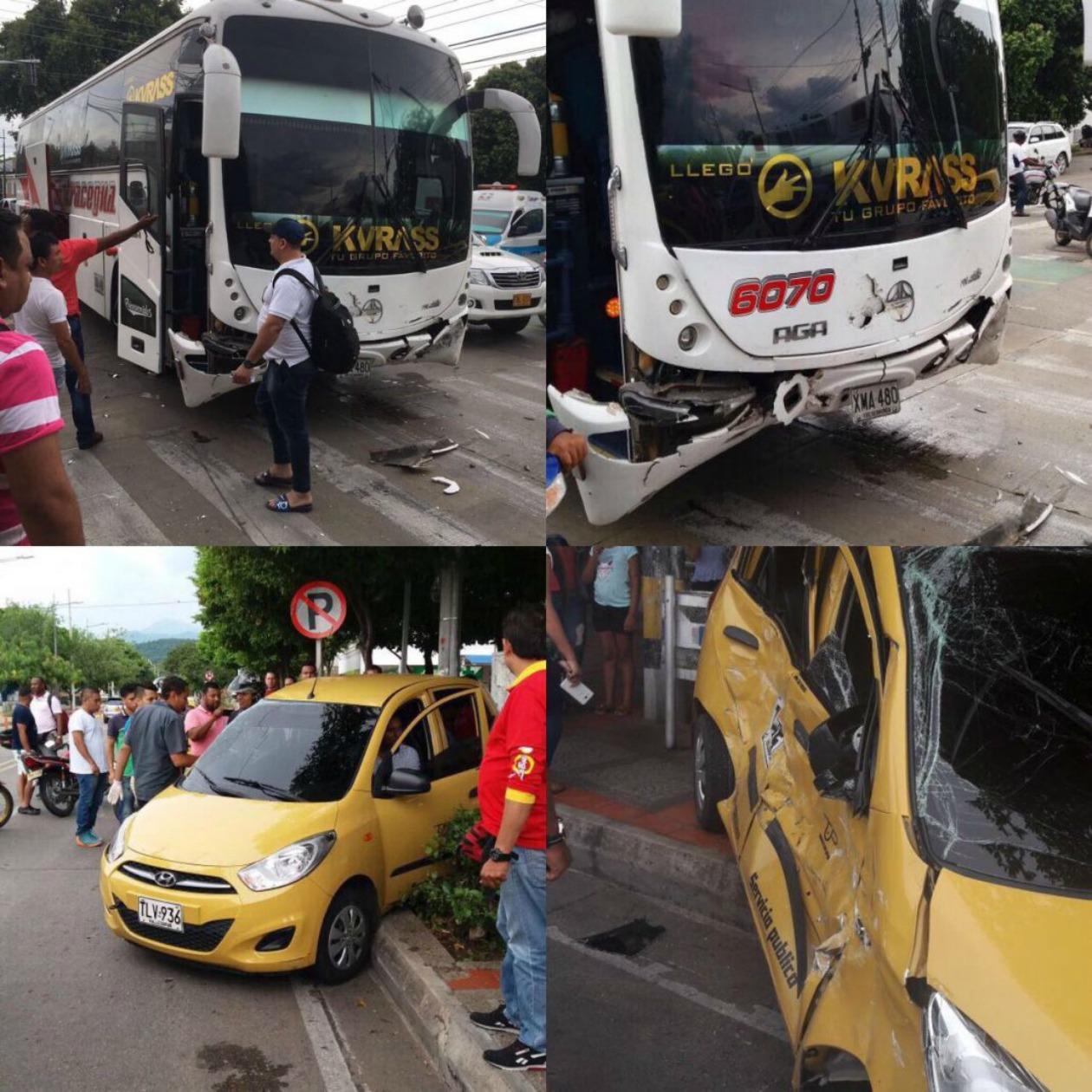 Accidente del grupo Kvrass en Valledupar