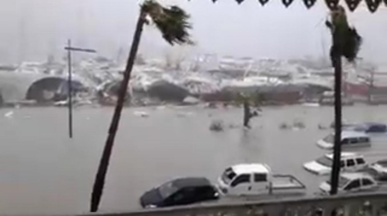 El devastador paso de Irma por las islas del Caribe.
