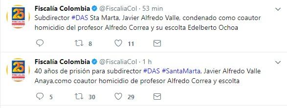 La Fiscalía confirmó la condena al exsubdirector del DAS en Santa Marta.