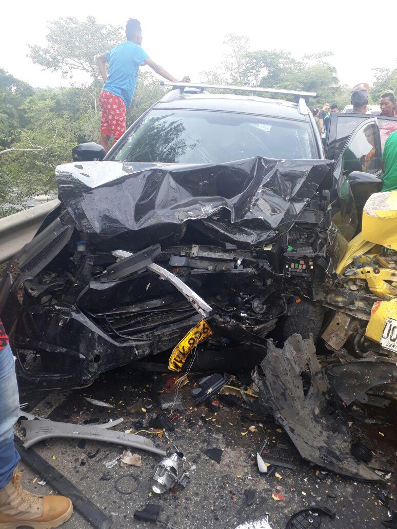 Accidente cerca a Fundación dejó como saldo tres samarios muertos.