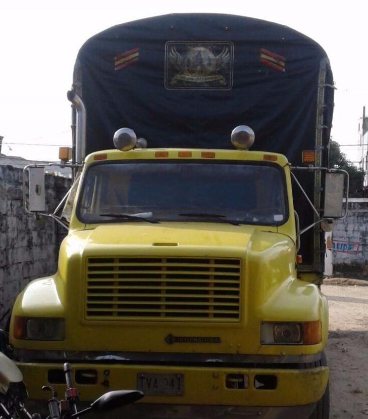 Camión recuperado por la Policía en Fundación.