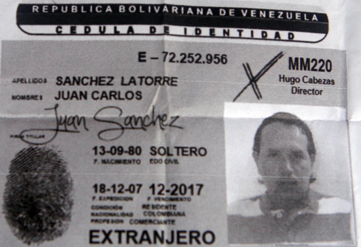 Cédula venezolano del 'Lobo Feroz'.