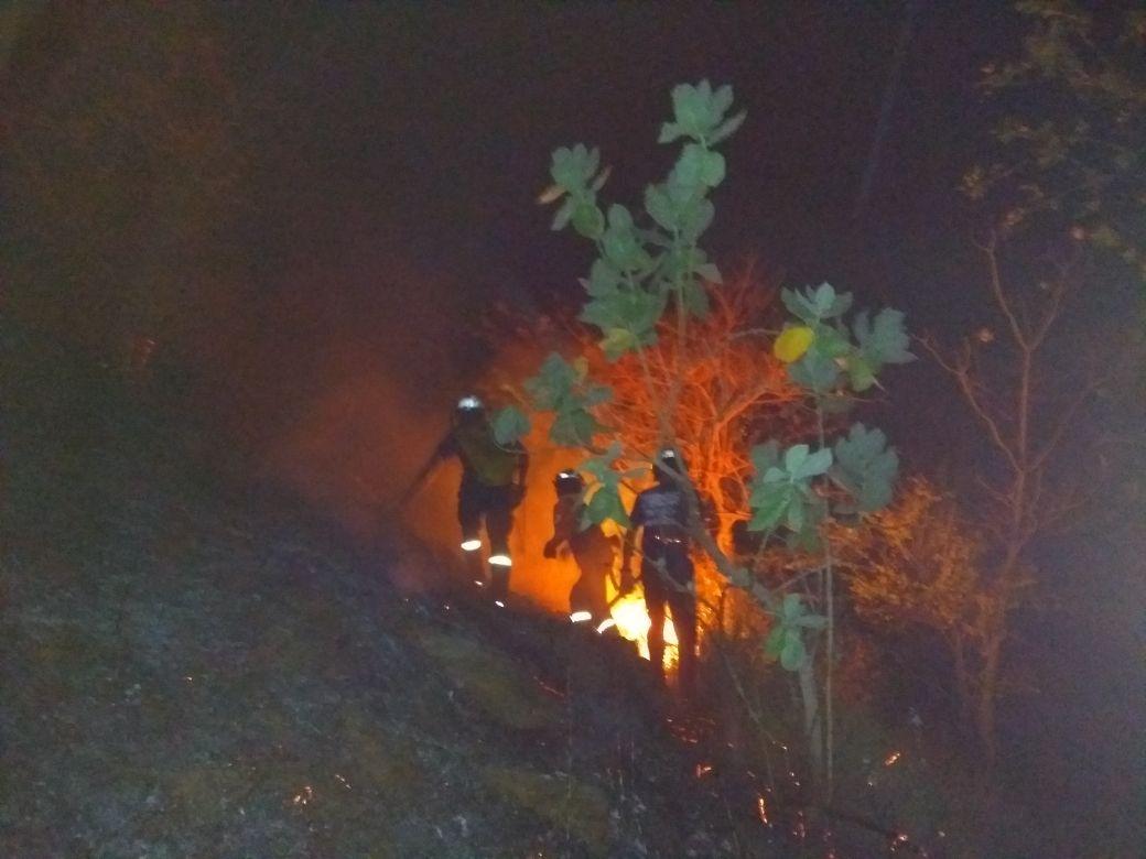 Bomberos atendieron la emergencia del incendio.