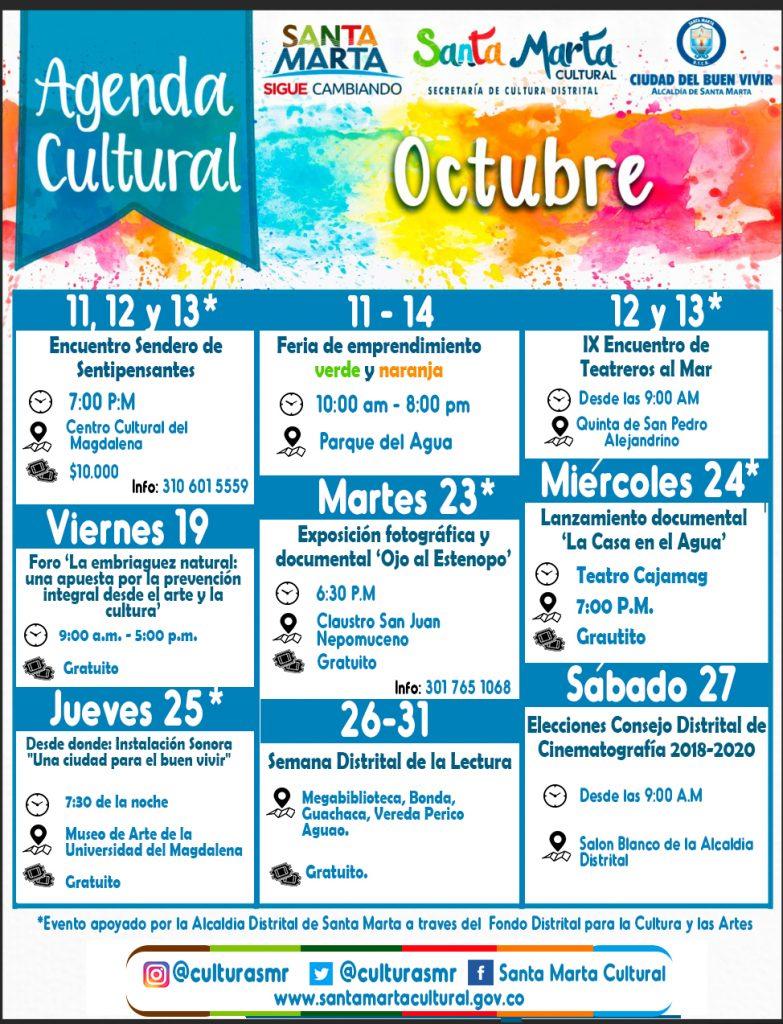 Agenda cultural del mes de Octubre