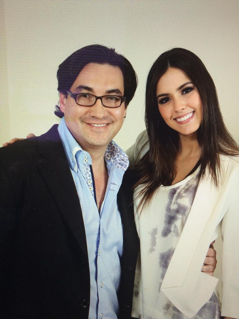 Con Paulina Vega