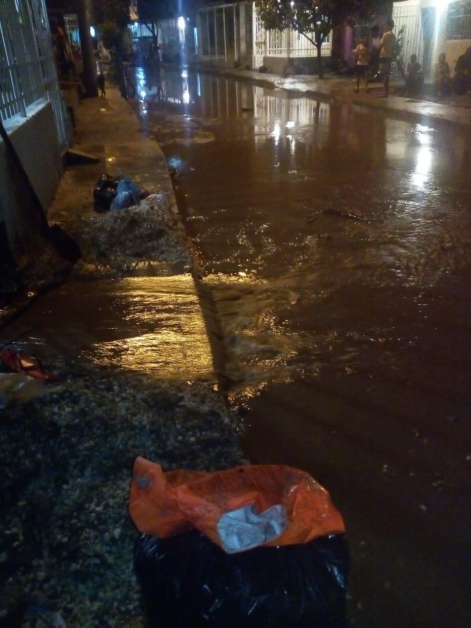 Inundaciones en Villa del Carmen.
