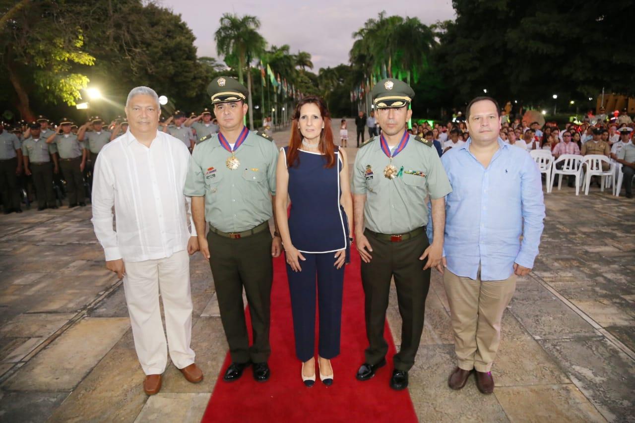 Condecoración a comandantes de Policía de Magdalena y Metropolitana de Santa Marta.