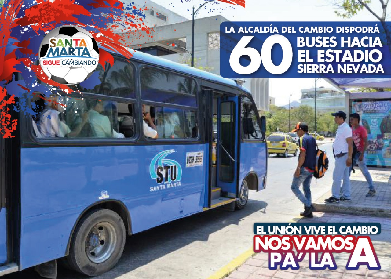 60 buses disponibles.