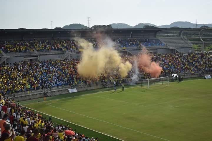 Estadio Sierra Nevada, durante un partido de los Juegos Bolivarianos.