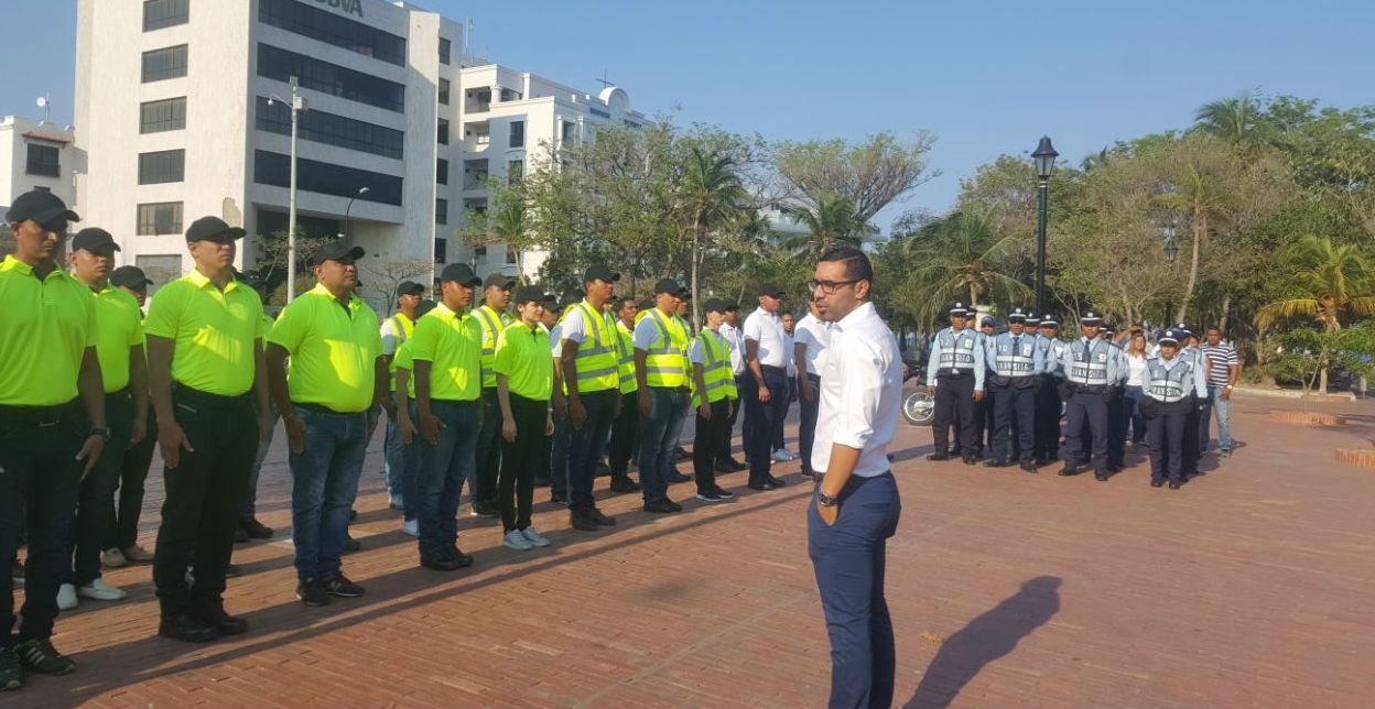 El secretario de movilidad, Ernesto Castro les dio instrucciones precisas a los agentes y facilitadores.