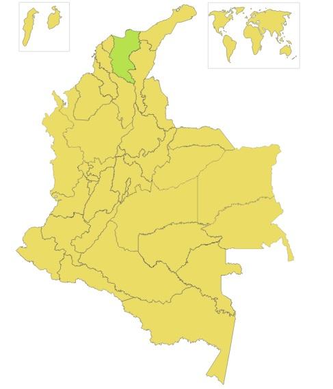 El color amarillo identifica los departamentos en los que ganó Gustavo Petro y el verde, en donde Caicedo obtuvo mayor votación.
