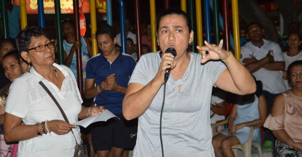 Mujer venezolana, quien mostró rechazo por los actos cometidos por algunos de sus compatriotas.