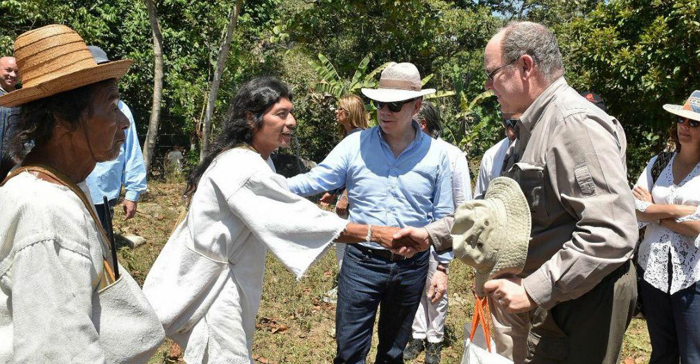 Los líderes indígenas agradecieron por la visita.
