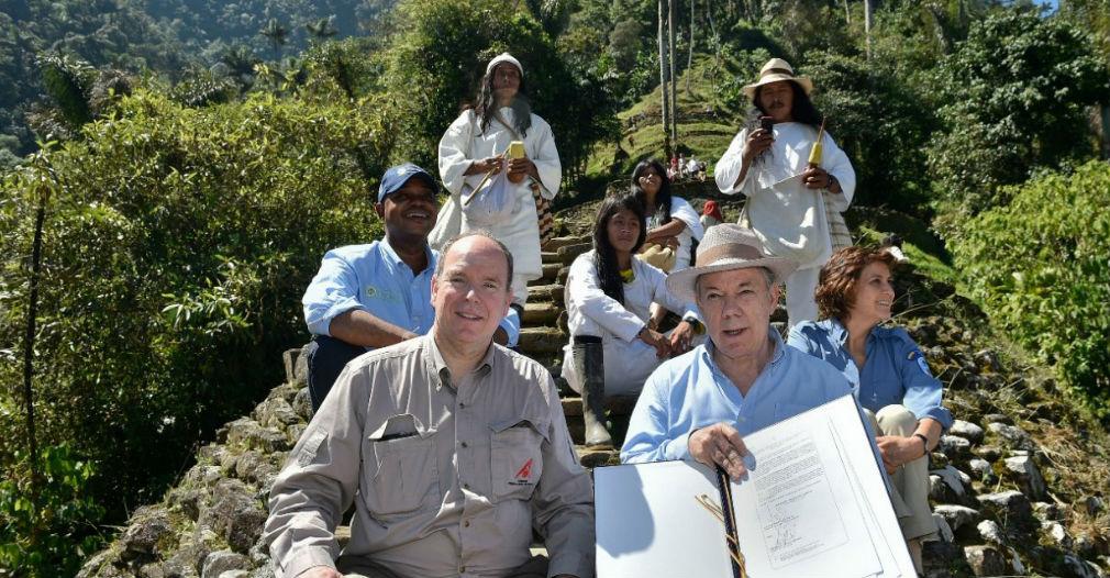 La firma de la declaratoria estuvo liderada por el Presidente Juan Manuel Santos, en el marco de la visita del Príncipe Alberto II de Mónaco.