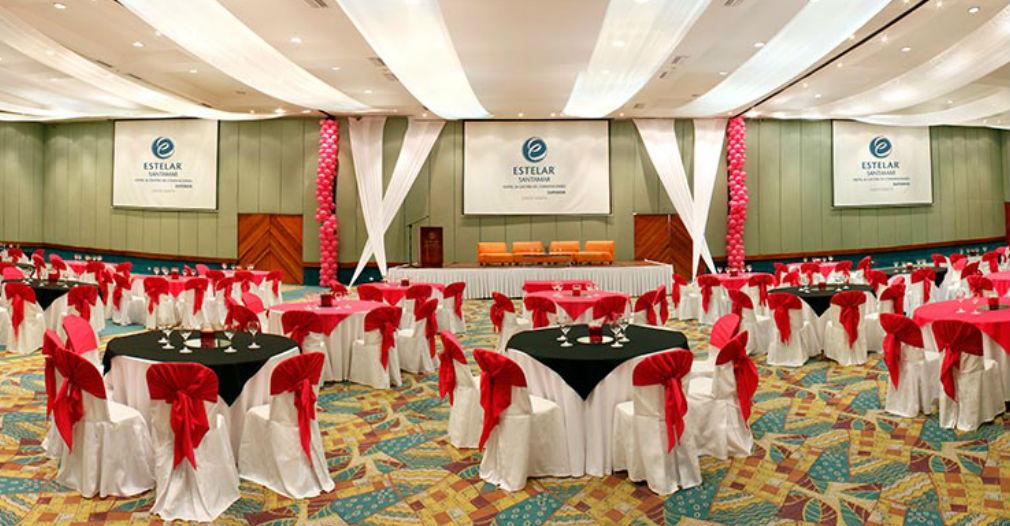 Salón del hotel Santamar donde se reunirán las empresas hoteleras y turísticas del caribe.