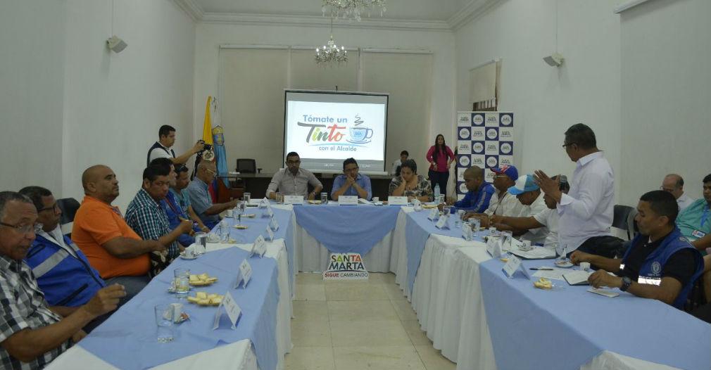 El gobierno Distrital inició un ciclo de reuniones con lideres del gremio de mototaxistas.