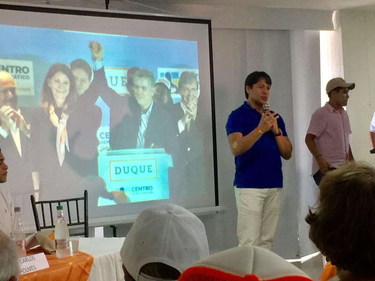 Intervención de Rubén Jiménez, quien lideró el encuentro.