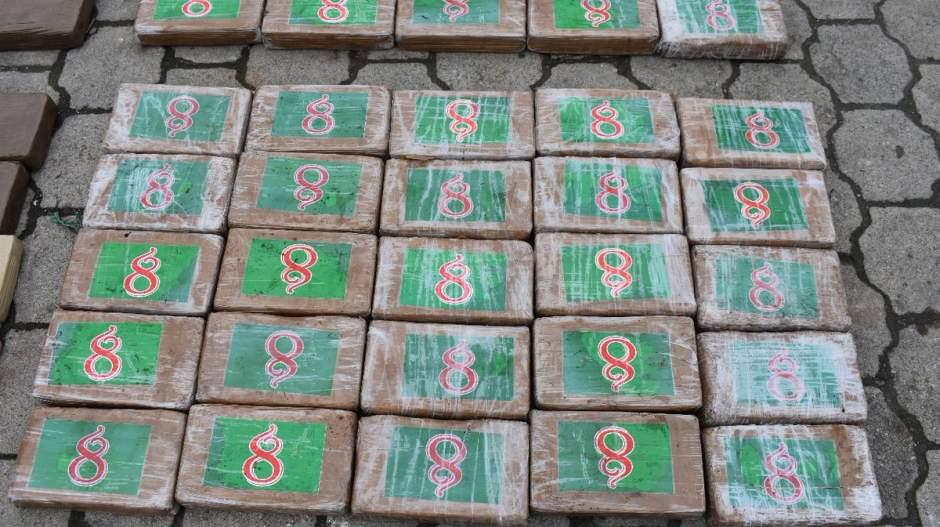 Los paquetes en el que iba transportada la cocaína.