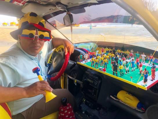 El taxista, por su creatividad, es preferido por los samarios.