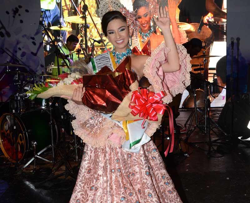 María Kamila Vergara Mogollón, actual emperatriz Nacional de la Cumbia.