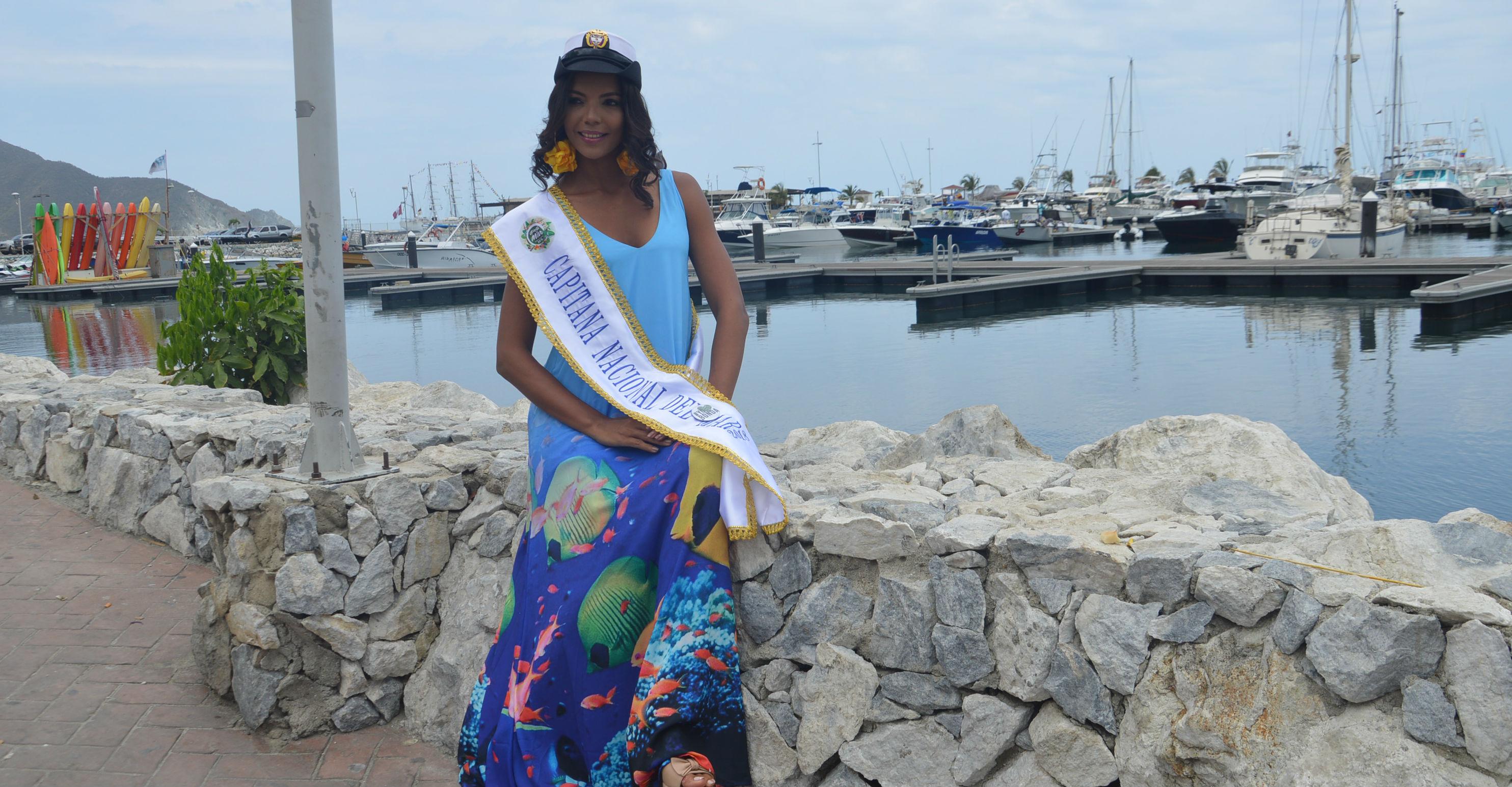 Kelly Puerta, posó para los diferentes medios de comunicación de Santa Marta.
