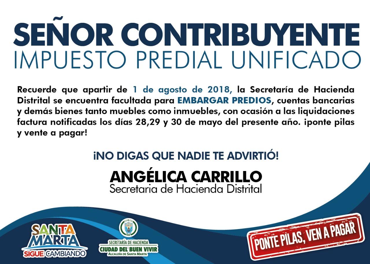 Con este tipo de publicaciones la Alcaldía invita a que las personas paguen y eviten el proceso coactivo.