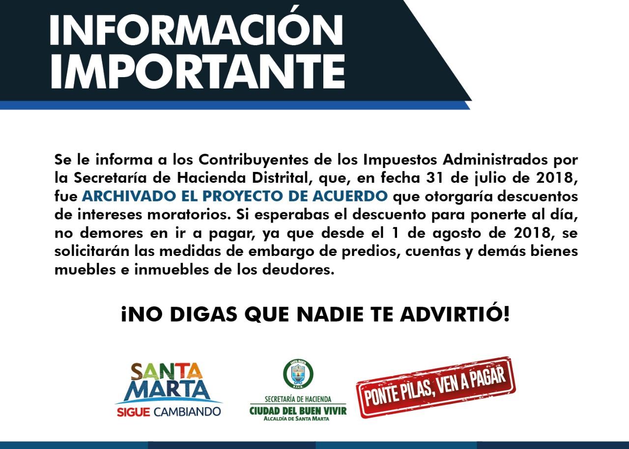 Con esta imagen la Alcaldía informa sobre las acciones a tomar.