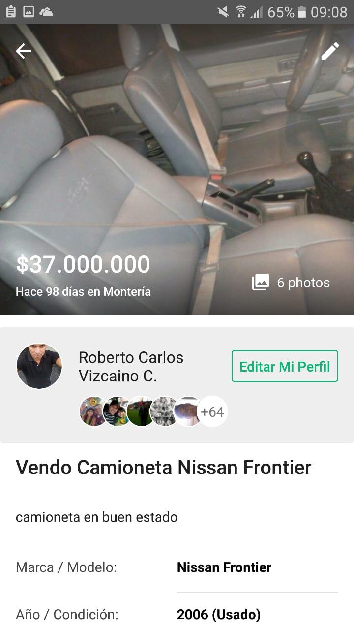 La camioneta que buscaba la familia Vizcaíno Castillo.