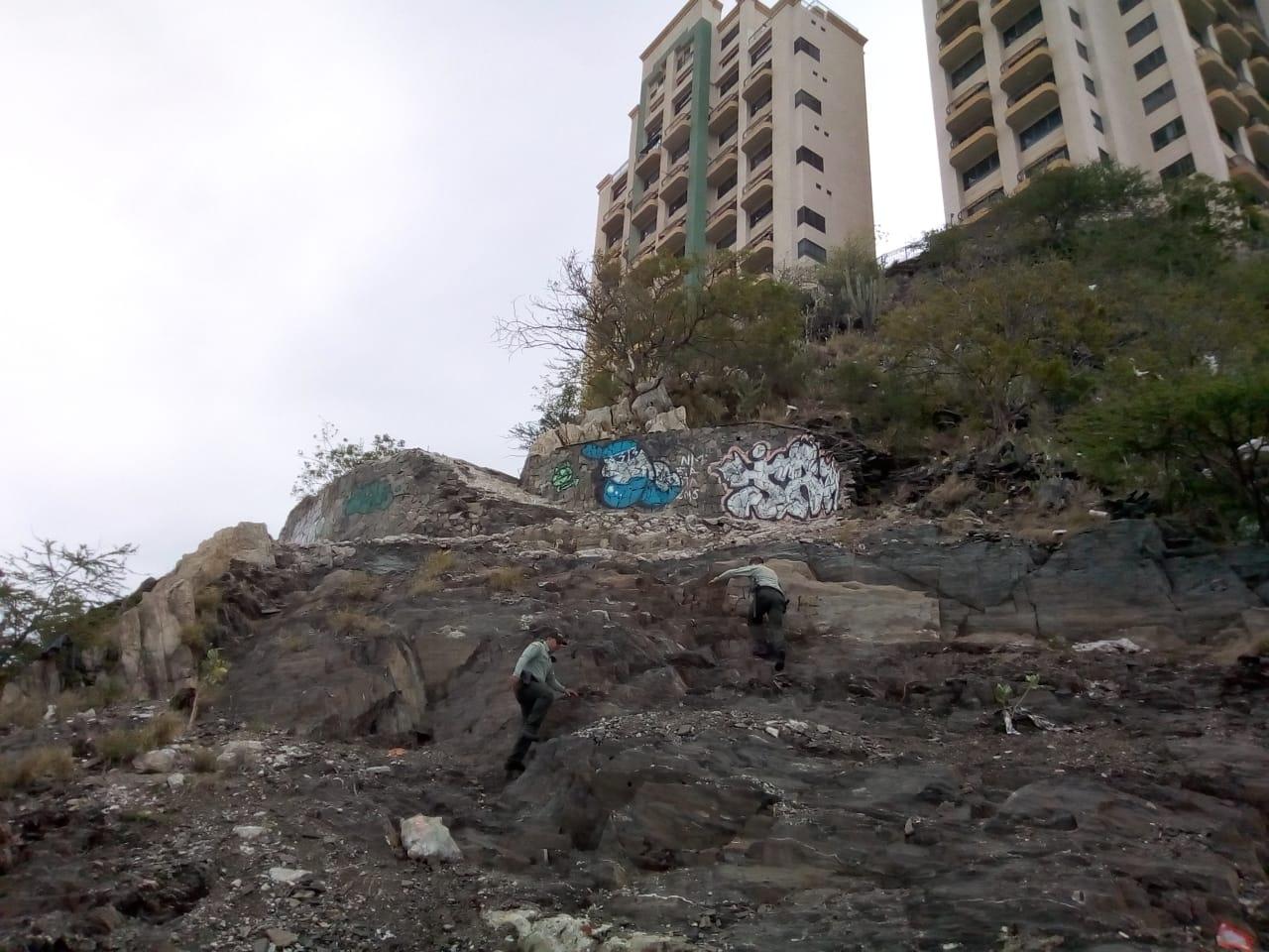 Hicieron cambuches en las laderas de El Rodadero.