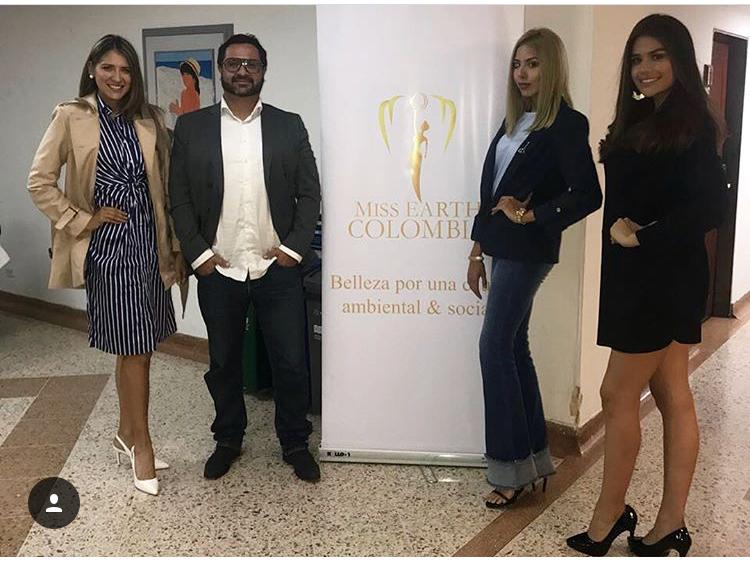 La representante de la Sierra Nevada, en compañía de otras candidatas a Miss Earth Colombia.