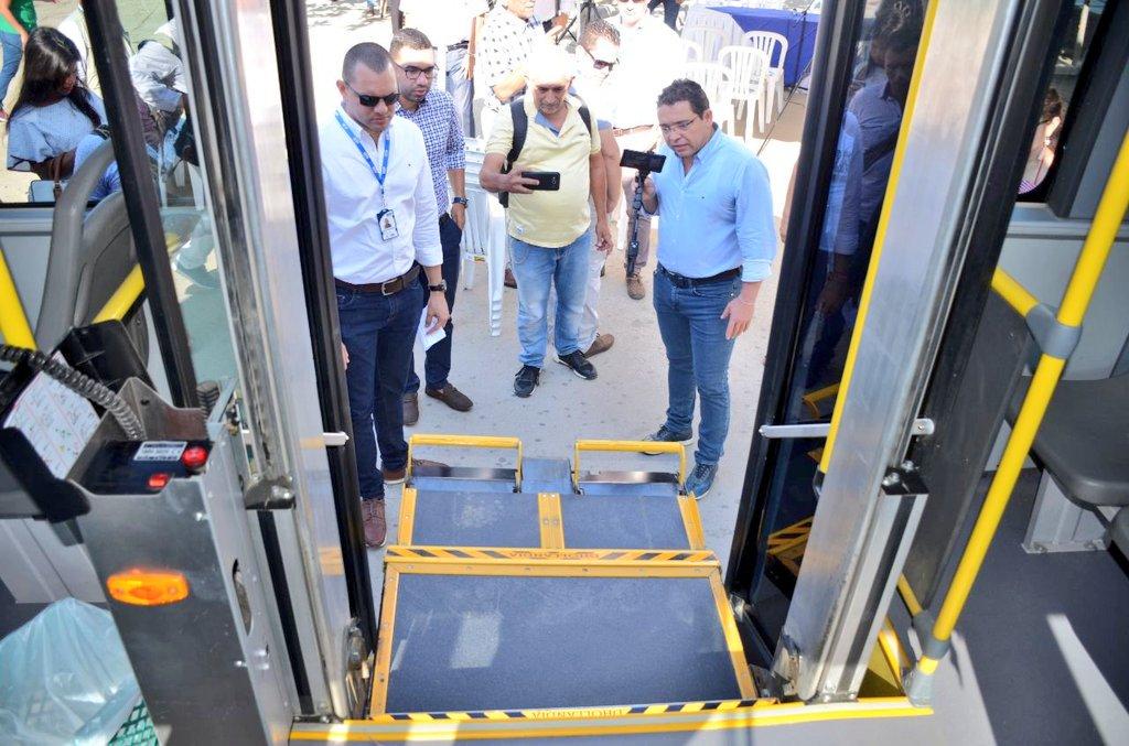 Plataforma para personas con movilidad reducida.