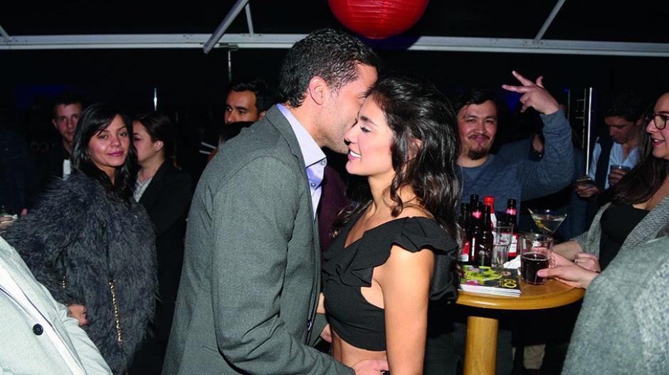 La actriz Eileen Moreno y el actor Alejandro García.