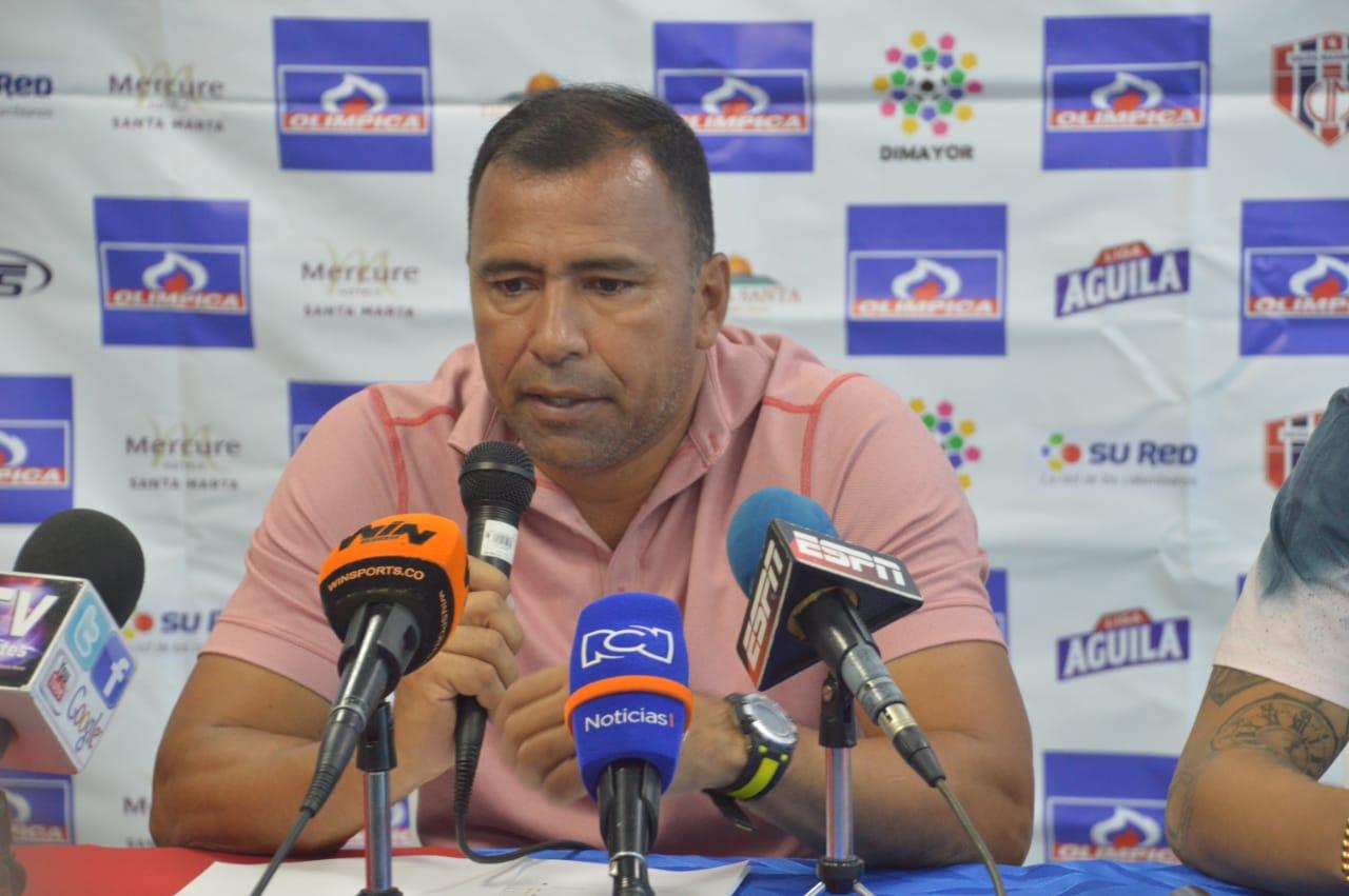 Harold Rivera, entrenador del Unión Magdalena