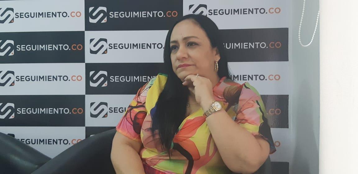 La diputada manifestó que siempre ha luchado por los derechos de la mujer magdalenense.