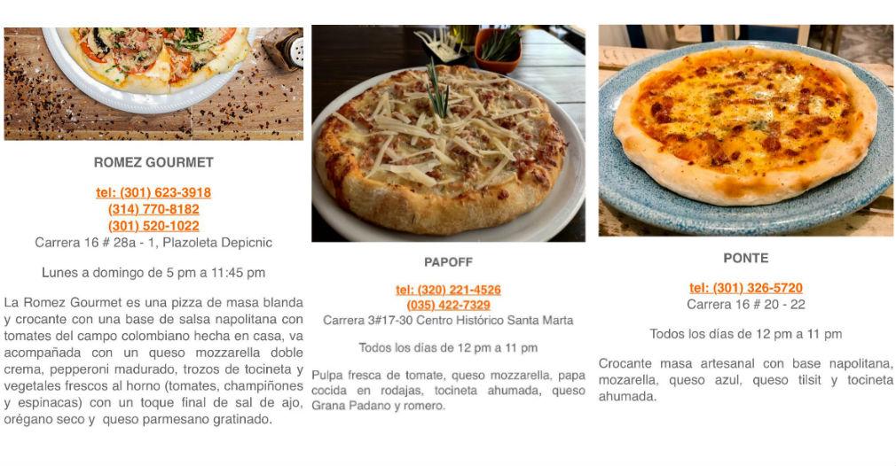 Concursantes de Pizza Master en Santa Marta.